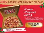 Uno's Introduces Family Size Take-Out Pizza