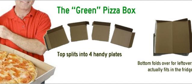Greenbox Pizza Box Turns Into Plates Amp Storage Unit
