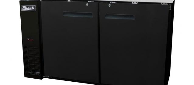 Migali C-BB60-HC Solid Door Back Bar Refrigerator (15.8 cu ft)