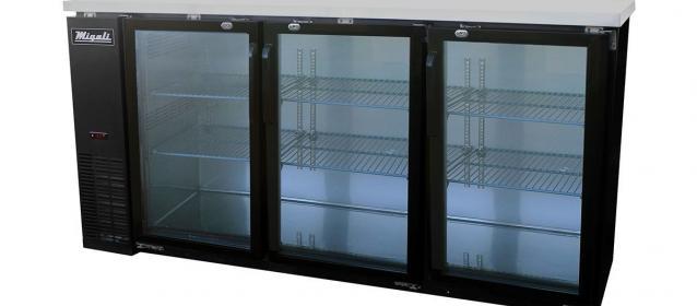 Migali C-BB72G-HC Glass Door Back Bar Refrigerator (19.6 cu ft)