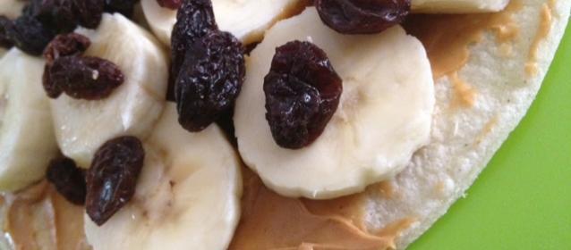 Peanut butter, Rasin, Banana