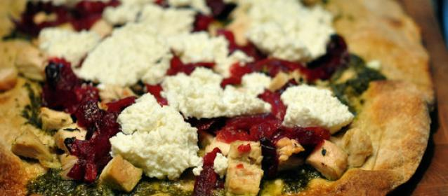 Cranberry Turkey Pesto Pizza